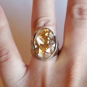 *RARE* Stunning Vintage Lemon Oval Ring